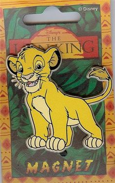 Disney's Lion King Simba Magnet  It is Mint on the original card as you see it here.