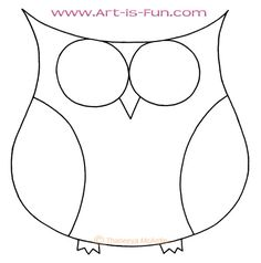 How to Draw an Owl: Learn to Draw a Cute Colorful Owl in this Easy Step-by-Step Drawing Lesson — Art is Fun Cute owl outline by Thaneeya McArdle Drawing Lessons, Art Lessons, Owl Outline, Owl Templates, Applique Templates, Applique Patterns, Owl Applique, Owl Cartoon, Cartoon Owl Drawing
