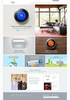 Nest website. Website design layout. Inspirational UX/UI design samples.  #WebDesign #UX #UI #WebPageLayout #DigitalDesign #Web #Website #Design #Layout