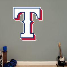 Texas Rangers Alternate Logo REAL.BIG. Fathead Wall Graphic | Texas Rangers Wall Decal | Sports Decor | Baseball Bedroom/Man Cave/Nursery