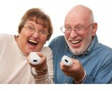 Active Indoor Games for Seniors; Their faces though!! :'D