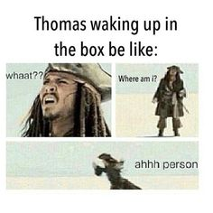 Lol, Thomas from Maze runner XD I know a few people who would do this if they woke up in the maze... XD