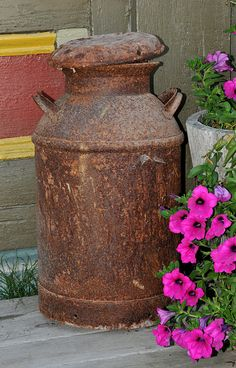 Old Milk Can by Paula Stephens, via Flickr