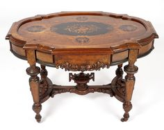 Herter Brothers Era Inlaid Center Table Moving And Storage, State Of Florida, Small Furniture, Center Table, Poker Table, Auction, Home Decor, Decoration Home, Poker Table Top