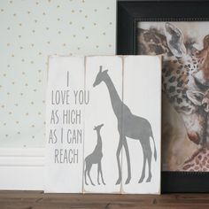 Hey, I found this really awesome Etsy listing at https://www.etsy.com/listing/271929742/i-love-you-as-high-as-i-can-reach-baby