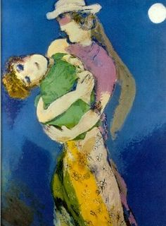 Marc Chagall (1887-1985) Lovers In Moon