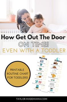 11 tips to get out the door on time with a toddler or young children! Snag out printable PDF Morning and Evening Routine Chart for a toddler. Kids, Morning and Evening, Routine Chart, printable, toddl Mom Advice, Parenting Advice, Kids And Parenting, Toddler Routine Chart, Daily Checklist, Family Organizer, Working Moms, Raising Kids, Mom Blogs