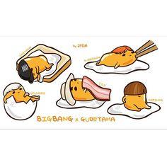 gudetama x bigbang Krunk Bigbang, Seungri, Kpop Fanart, G Dragon, Art Pictures, Memes, Winnie The Pooh, Chibi, Anime Art