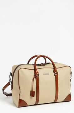 Burberry 'Barwood' Duffel Bag - to die for My Bags, Purses And Bags, Sac Week End, Weekender Bags, Duffel Bags, Diaper Bag Backpack, Bag Making, Travel Bags, Leather Bag
