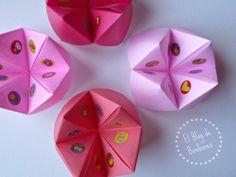 Comecocos de origami. Nos encantaba jugar a esto en el cole!!