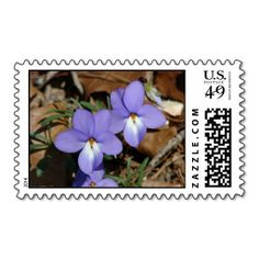 WildFlowers Birds-Foot Violet III Hot Springs AR Postage Stamps  by Lee Hiller #Photography and Designs