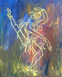 Dance of Shiva 16x20 Acrylic on canvas