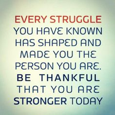 every struggle you h