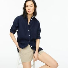 Women's New Arrivals : Dresses, Shoes & More | J.Crew J Crew Summer, Cool Shirts, Women's Shirts, Cashmere Sweaters, Workout Shirts, What To Wear, Clothes For Women, Irish, Outfits