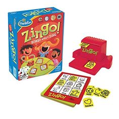 ThinkFun Zingo Bingo Award Winning Preschool Game for Pre-Readers and Early Readers Age 4 and Up - One of the Most Popular Board Games for Boys and Girls and their Parents - Toys Board Games For Boys, Preschool Board Games, Preschool Kindergarten, Preschool Learning, Learning Activities, Family Game Night, Family Games, Family Kids, Bingo Games