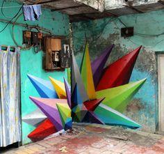 chaos star-Haus Khas Village. New Delhi. India-Okuda