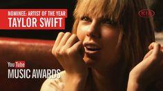 Voté a Taylor Swift como Artista del año en los YouTube Music Awards. yo...
