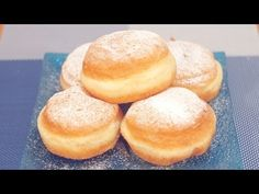 Donut recipe with baked Nutella - pie dolci - . Homemade Jelly Donuts Recipe, Easy Donut Recipe, Donut Recipes, Gourmet Recipes, Dessert Recipes, Cooking Recipes, Desserts, Nutella Pie, Deserts