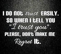Trust  (Feeling Duped)