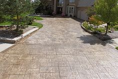 Biondo Cement - Driveways Gallery 02-Stamped-Concrete-Driveway-in-Chesterfield-MI-Cobble-Stone-Stamp.jpg