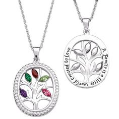 Marquise Birthstone Family Tree Pendant - love, love, love it
