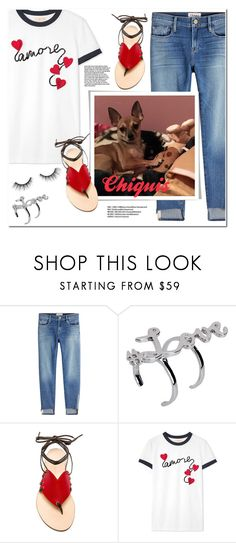 """""""My Pet: Chiquis"""" by christinacastro830 ❤ liked on Polyvore featuring Frame, Luxury Fashion, Cornetti, Tory Burch and tarte"""