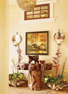 Hawaiian Interior Design | Hawaiian home decor ideas, wood furniture ...