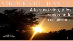 JUAN 1:11  - MARIETTA, GA