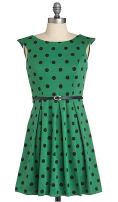 A Grand Weekday Out Dress in Dots, $40.99.