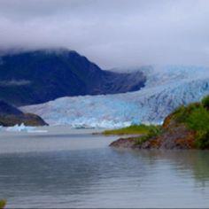 Mendenhall Glacier, near Anchorage, Alaska.