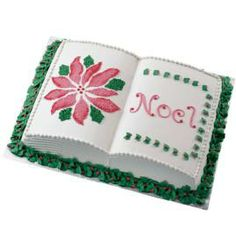 Wilton tips make special effects like this easy! Here multi-opening tip 233 is used to give the showcase poinsettia the look of embroidery. The leaf border around the cake really stands out!