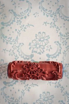 No. 12 Patterned Paint Roller from The Painted House via Etsy.  Think I'll try making patterned rollers!