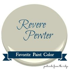 revere pewter benjamin moore paint | The featured color this week is Benjamin Moore Revere Pewter, HC-172 ...