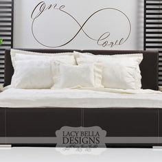 """""""One Love"""" Infinity Symbol Sign www.lacybella.com Lacy Bella   Personalized Vinyl Lettering and Wall Decals"""