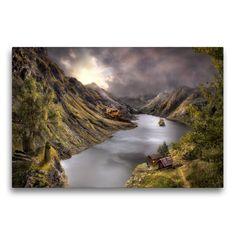 Fantasy, Digital Art, Poster, River, Outdoor, Wall Decorations, Canvas, Landscape, Nature