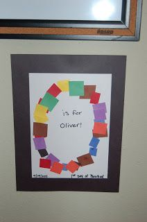 The Hardin Family: Preschool Classroom. Love the idea of doing a craft for each child's letter.