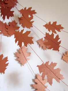 Paper Garland inspiration. So many options, cut shapes with cricut!