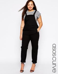 I'm going back to the 90s in style. ASOS Curve | ASOS CURVE Overalls In Twill at ASOS