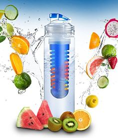 Elite Infuser Water Bottle - 28 ounce - Made with Commercial Grade Tritan - PLUS Recipe Ebook INCLUDED (Blue) Basily http://www.amazon.com/dp/B00P03TCWY/ref=cm_sw_r_pi_dp_h7iHvb14YPMZ1