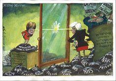 Martin Rowson on Theresa May and Nicola Sturgeon – cartoon | Opinion | The Guardian