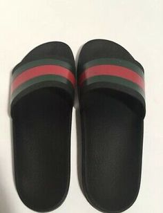 70790bb4c (eBay Sponsored) Gucci Pursuit Slide Men's Black Sandals Size 9 G/ 10 US
