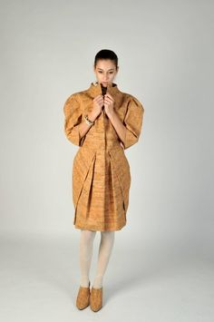 a jacket made entirely out of cork by young Portuguese fashion designer, Rafael Costa