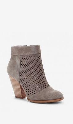 Women's Fennel Suede 3 1/4 Inch Perforated Suede Ankle Bootie