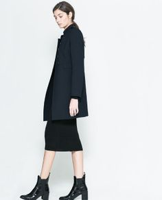 ZARA - WOMAN - DOUBLE BREASTED TWILL COAT