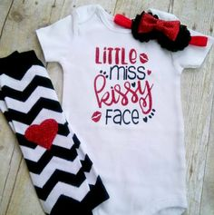 Valentines Day Outfit Set Baby Girls Daddys Little Valentine Tops Pant Clothing Set