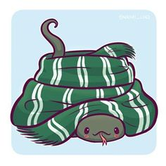 discount illustration Nagini in a Slytherin scarf! Im a big fan of drawing cute danger noodles This is the last chance to enter my giveaway! And to get a off discount code on my etsy the winners will be randomly chosen tomorrow Harry Potter Anime, Images Harry Potter, Arte Do Harry Potter, Cute Harry Potter, Slytherin Harry Potter, Harry Potter Drawings, Slytherin House, Slytherin Pride, Harry Potter Houses