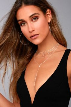 #Lulus - #Lulus Be My Lover Sterling Silver Layered Necklace - AdoreWe.com