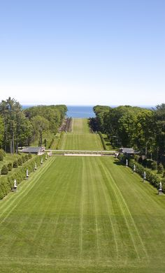 The lawn undulating to the sea.  Grand Allée at Castle Hill on the Crane Estate http://www.thetrustees.org/places-to-visit/northeast-ma/castle-hill-on-the-crane.html