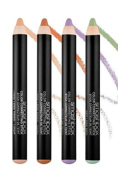 The Best New Color-Correcting Products On The Market #refinery29  http://www.refinery29.com/color-correcting-makeup#slide-9  The rounded pencil point on Smashbox's new evening sticks makes for precise application. You can apply them either wet or dry, depending on your coverage needs. Smashbox Color Correcting Stick, $23, available at Sephora. ...