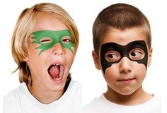 Easy Super Hero Mask Face Painting Designs.